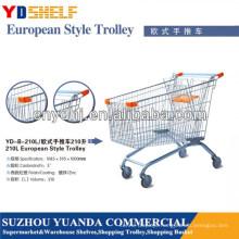 Metal European Style Supermarket Shopping Trolley