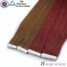 Vente chaude Cuticle Aligné Vierge Cheveux Brésiliens En Gros Étiquette Privée 7A Tape Cheveux Extension