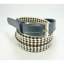 Newly-Designed Fashion Leather-Canvas Woven Belt
