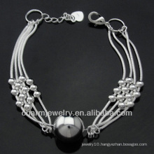 fashion 925 silver plated bracelets with Ball Charm BSS-030