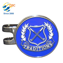 Customized Unique Double Side Cheap Metal Craft Golf Cap Clip