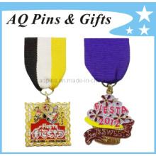 Emballage en métal à boutons en métal avec broche de ruban (badge-038)