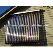 Split pressurized heat pipe sun collector with SOLAR KEYMARK & SRCC