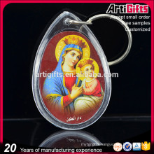 Wholesale custom printed clear acrylic key chain