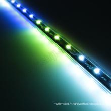 Éclairage 3D de cascade DC12V 60LEDs / m 10pixels / m lumière 3D verticale de tube de Digital RVB LED