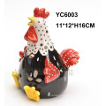 Ceramic Hand-Painted Rooster Shape Candlestick