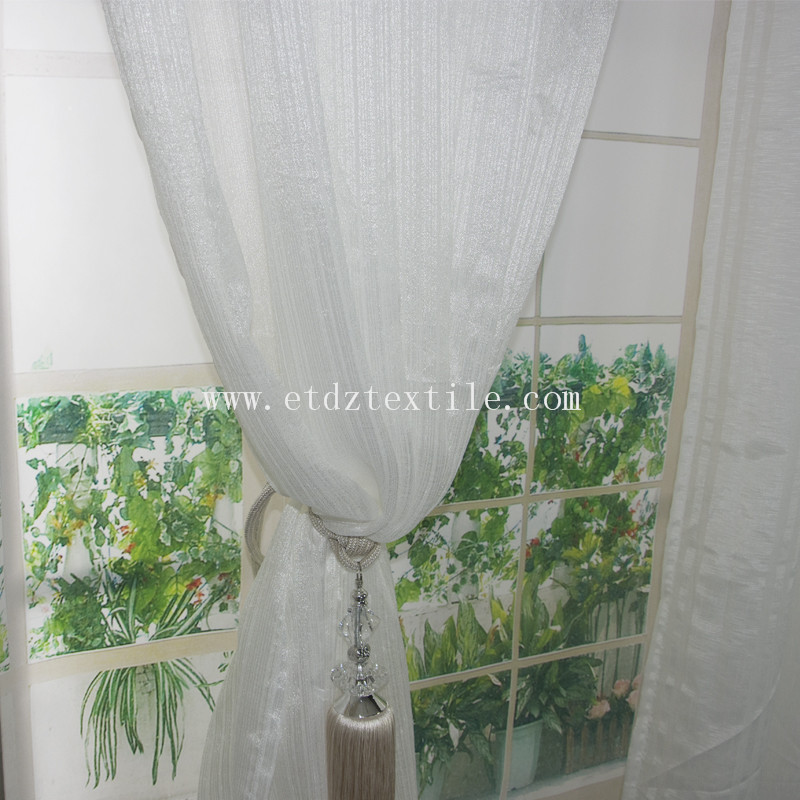 Sheer Curtain Fabric White Color