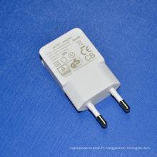 Chargeur de voyage USB universel avec prise UE pour iPhone / iPad / Samsung / PSP Adaptateur d'alimentation USB DC 5V 1A