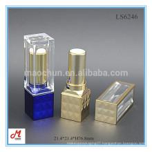 LS6246 Luxury metallizing diamond shining square custom plastic lipstick container