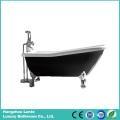 Fashion Black Acrylic Classic Bathtub with Feet (LT-11TB)