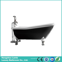 Fashion Black Acrylic Classic Bathtub with Feet (LT-11TB)