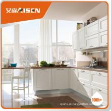 Armário de cozinha de madeira sólida padrão americano de alta qualidade