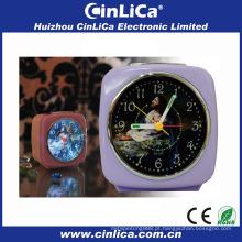 Patente uniforme luz projeção despertador profissional fabricante CK-335