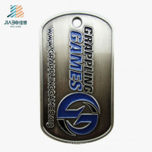 Custom Good Quality Stainless Steel Metal Grappling Dog Tag for Promotion