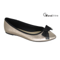 Women′s Pointed Toe Flat with Bow Ballet Shoes