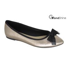 Frauenspitze Zehe flach mit Bogen Ballett Schuhe