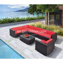 Wetterfeste Outdoor-Sofa-Set-Rattan-Möbel (S0009)