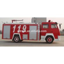 Camión de bomberos / camión de bomberos de Sinotruk HOWO 4X2 / camión de la lucha contra el fuego / camión de bomberos de la espuma / camión de bomberos del agua / carro de bomberos parachoques