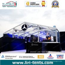Tente transparente 9X18m avec toit transparent et fenêtres transparentes pour l'événement Doir