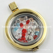 33mm Stainless Steel Coin Locket Coin Holder Locket Jewelry
