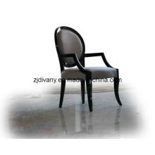 Chaise de cuir en bois salle à manger de Style européen (LS-307)