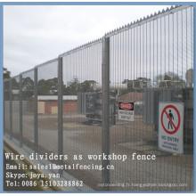 Clôture de sécurité soudée de fil de métal de la Chine 8 avec des panneaux de fil de clôture populaires de place de sécurité de place de poste de H