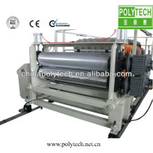 Plastic roofing tile machine