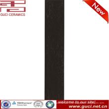 foshan antideslizante interior negro rústico baldosas de piso de madera de cerámica
