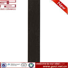 foshan anti slip interior black rustic ceramic wooden floor tiles