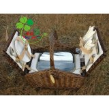 willow family picnic basket hamper basket natural wicker handicrafts.