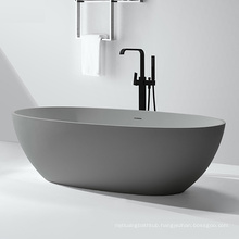 3D model design Customize Artificial Stone Modern Bathtub Freestanding