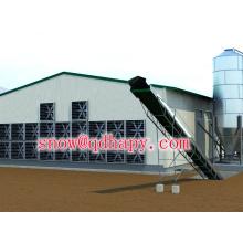 Equipo de cobertizo de control avícola para capa de broiler y criador con alimentador y unidad alimentadora