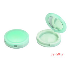 Vivid Green Compact Powder Container With Mirror