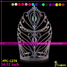 12 Inches Tall Colored ab pageant crowns for sale