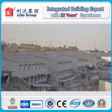 Casa prefabricada K del campo de trabajo de 4000 metros cuadrados de Dubai con la estructura de acero galvanizada