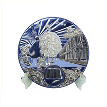Europe regional feature metal commemorative plate italia souvenir