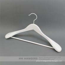 HH marque blanc cintre haut en bois pour vêtements costume manteau pour placard