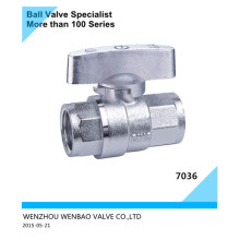 Full Port Electroplating Brass Ball Valve with Butterfly Handle