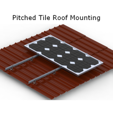 Sloped Roof Brackets High Quality Anodized Aluminum Solar Mounting System