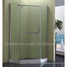 Recinto de ducha con marco de acero inoxidable (LTS-013)