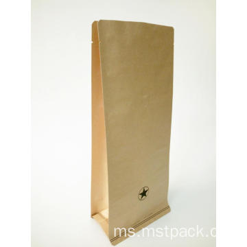 Brown Kraft Paper Flat Bottom Pouch