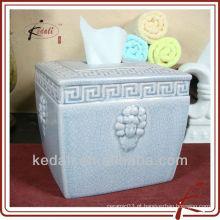 Tampa decorativa da caixa do tecido