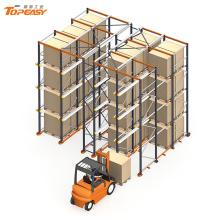 sistema de drive-thru de rack de armazenamento de armazém de alta densidade