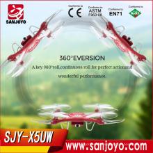 Syma nuevo producto X5UW 6 ejes 4ch WIFI FPV con cámara rc drone quadcopter rc juguete volador
