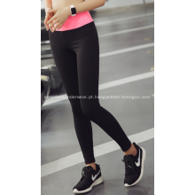 Verão de mulher de Legging esporte executando calça apertada