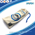 plant microfiber bag glasses with single drawstring