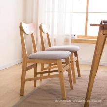 Protection de l'environnement Chaise de table en bambou