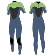 Seaskin Womens Short Arm Scuba Diving Wetsuits