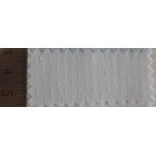 Ромб цветочные узоры отбеливатель Белый хлопок Добби ткань рубашки
