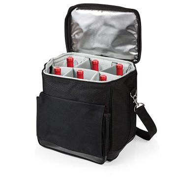 Picnic Time 6 pack Cool Carry koeltas voor wijn